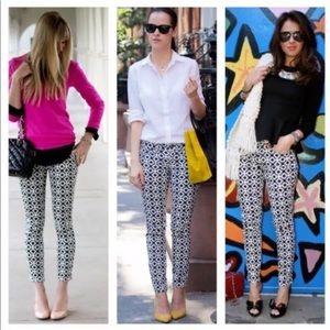 J.Crew Geometric Printed Skinny Cotton Denim Jeans